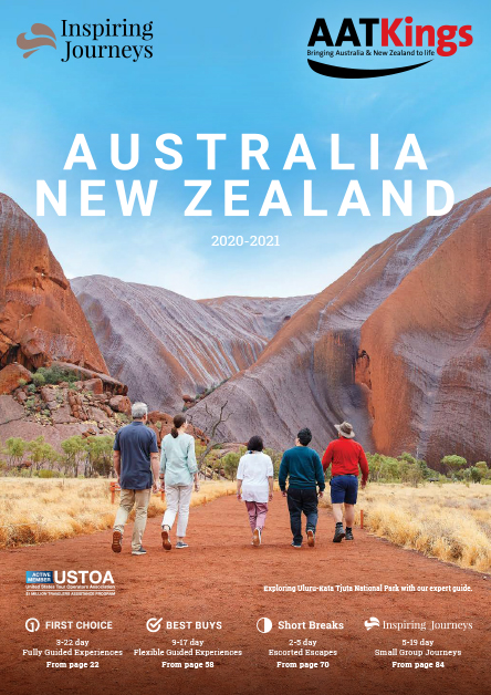 Front Cover of AAT Kings Australia and New Zealand Brochure