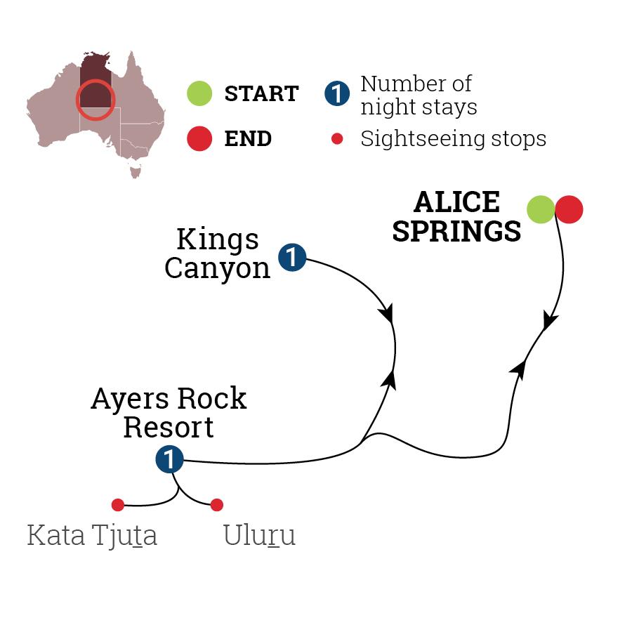 Uluru & Kings Canyon Discovery Map