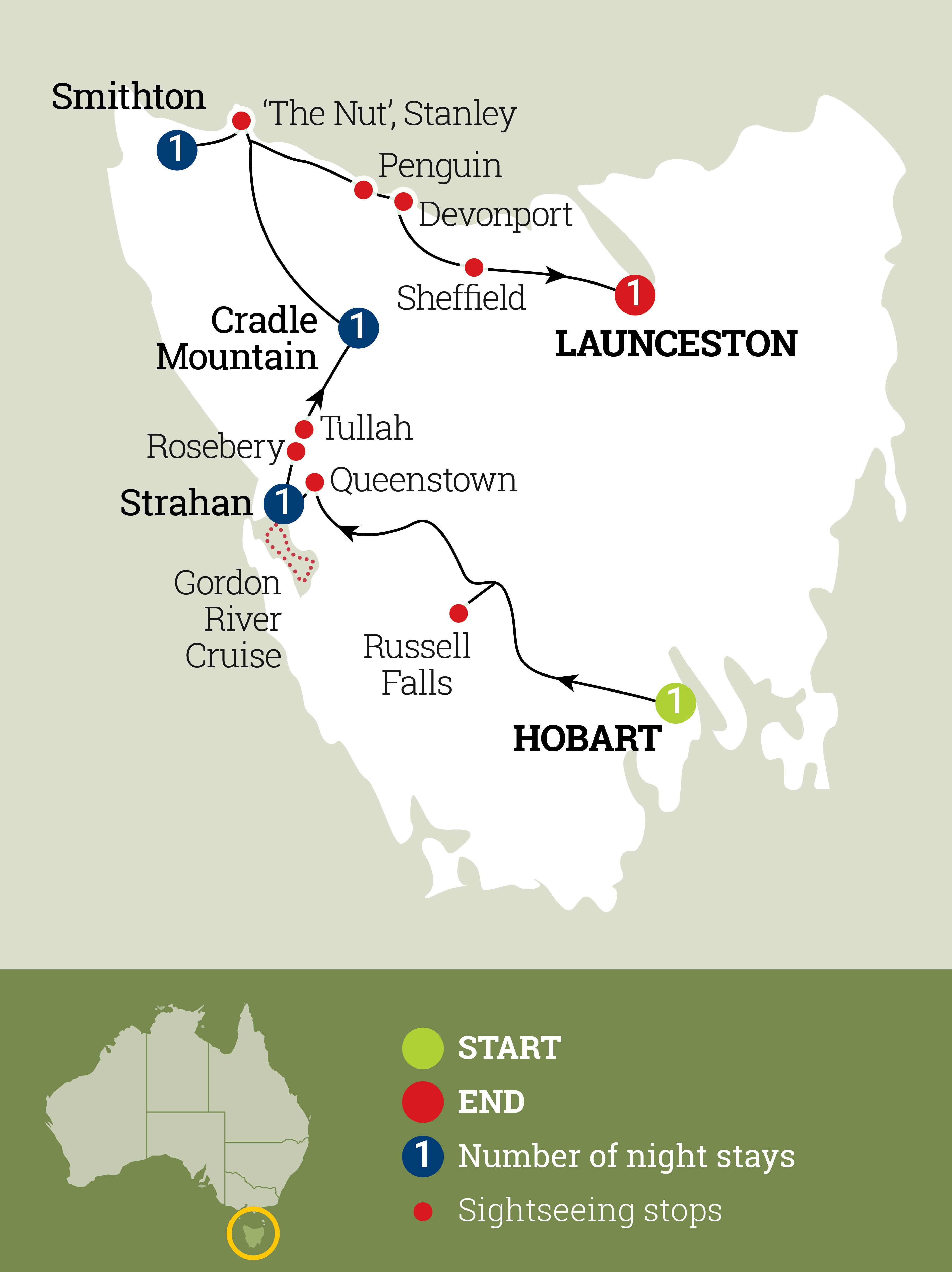 Tassie's Wilderness Icons Map
