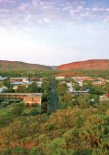 View of Alice Springs and the West MacDonnell Rang