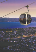 Skyline Gondola in Rotorua at night