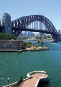 Sydney Harbour Bridge, view from the south side of