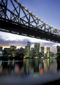 Story Bridge in Brisbane at dusk