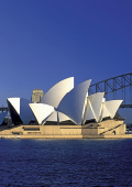 Sydney Opera House on a clear day with blue sky