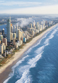 Beach meets city high rises at Surfer's Paradise