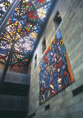 Stained glass ceiling in the National Gallery of V