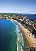 Aerial view of Manly and Manly Beach
