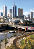 Federation Square, Princes Bridge and Yarra River