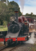 Puffing Billy Steam Train in motion