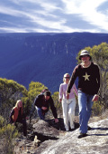 Guests walking and exploring The Blue Mountains