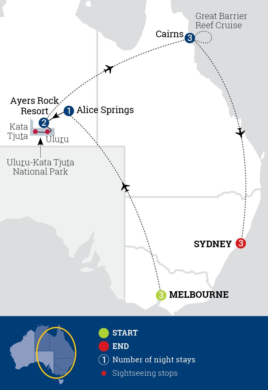 Australian Highlights Map