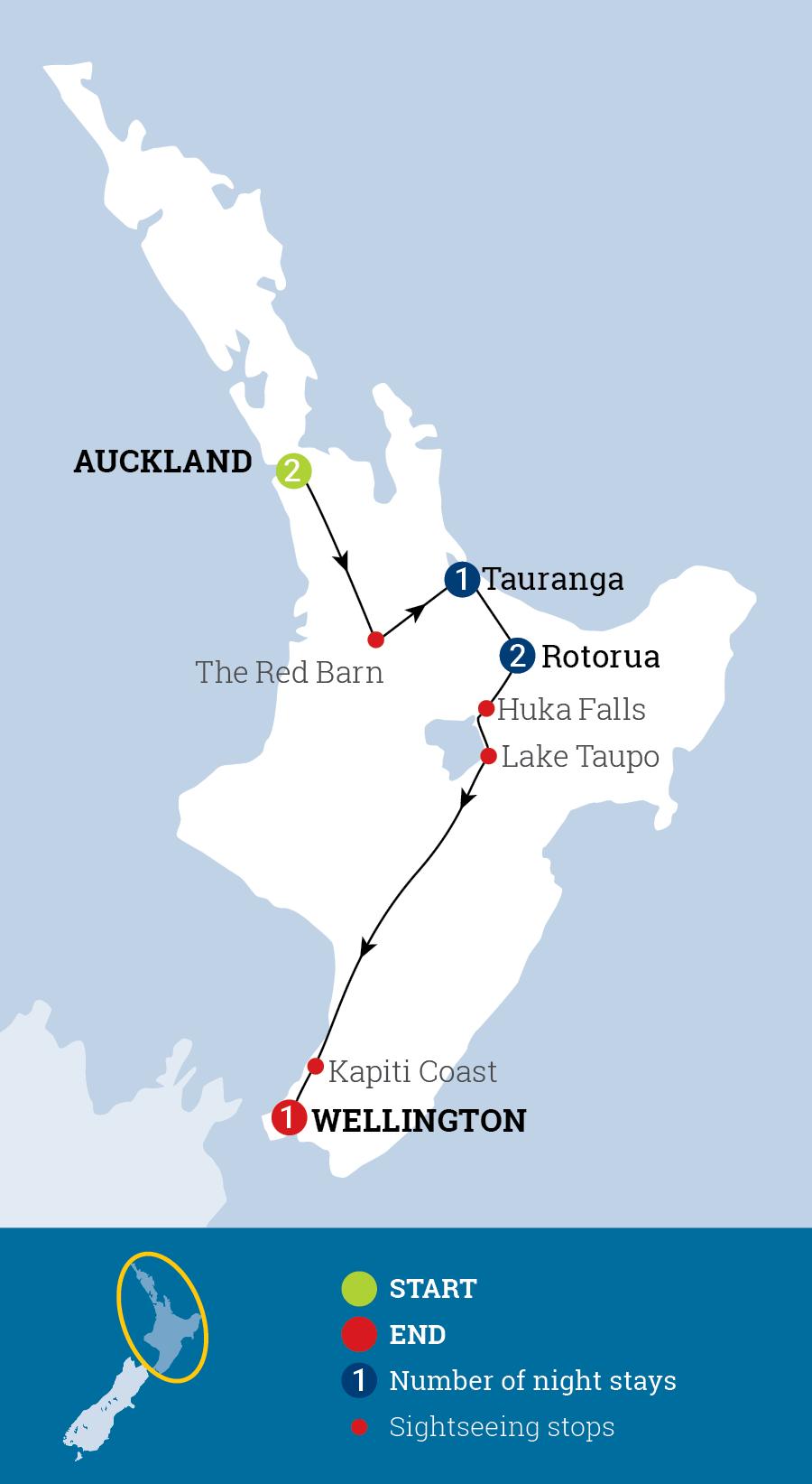 Iconic North Map