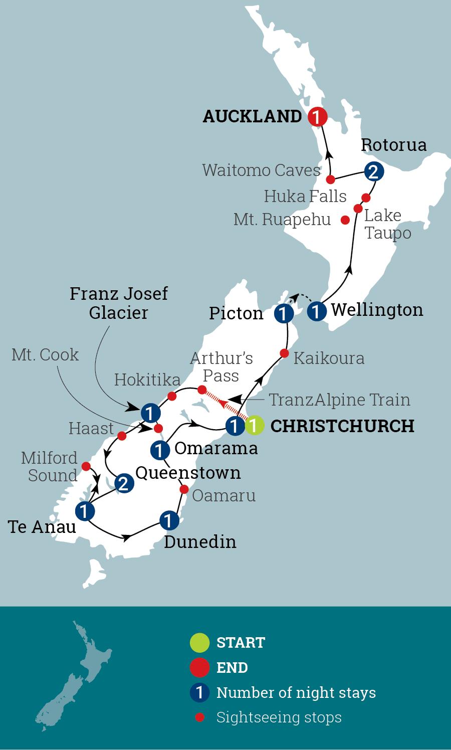 New Zealand Marvel Map