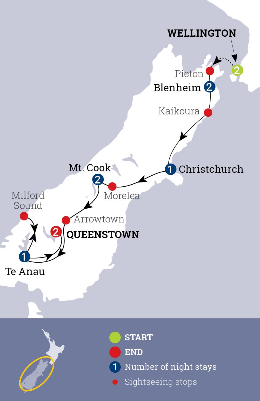 Sensational South Map