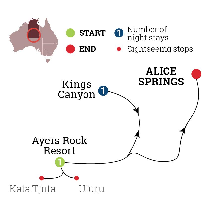 Uluru & Kings Canyon Unearthed Map