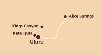 Uluṟu (Ayers Rock) Map