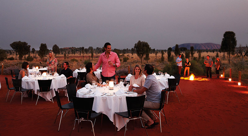 red centre sounds of silence dinner AY46 preview