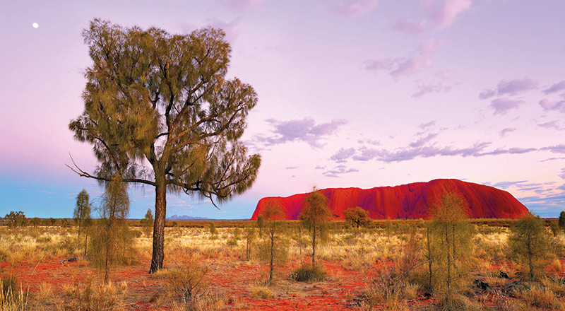 red centre uluru sunset AK43 preview