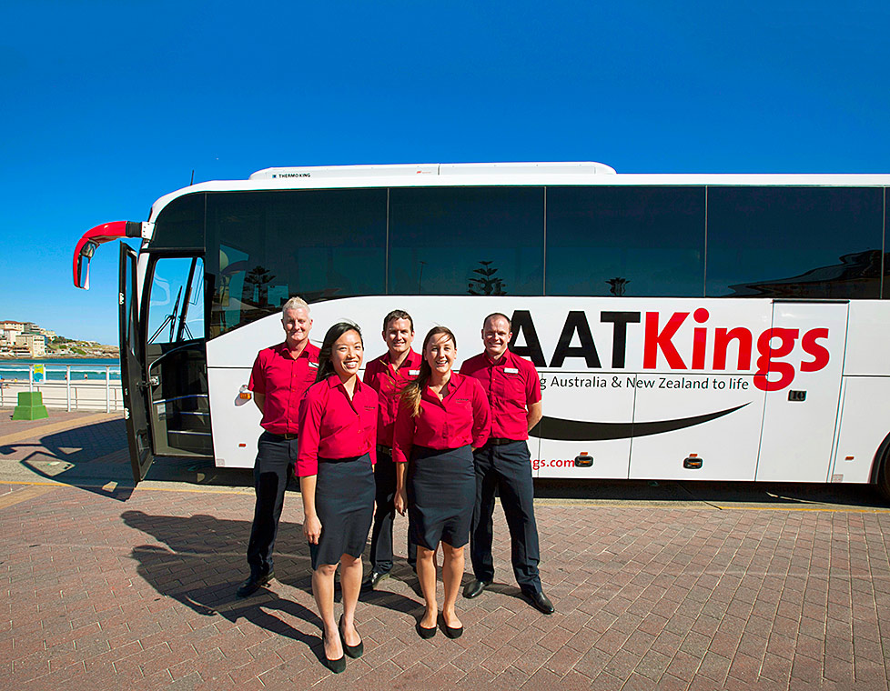 AAT Kings staff with Luxury Coach