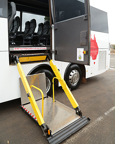 Exterior of our large vehicles with wheelchair accessibility