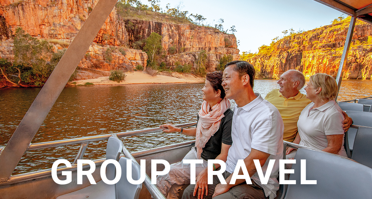Group of friends on a Guided Holiday in Katherine Gorge