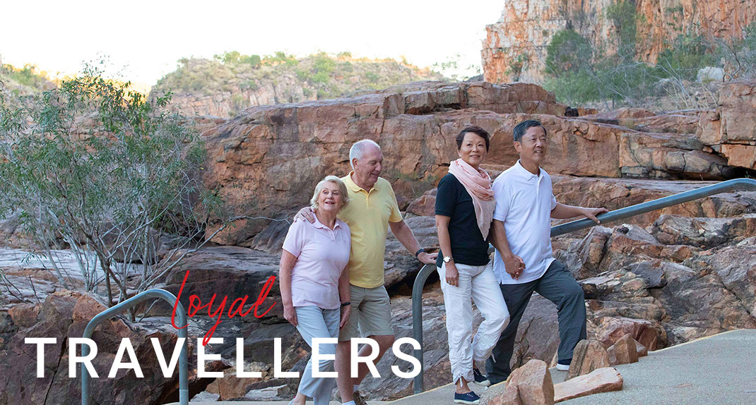 Smiles from past guests at Esperance with their Travel Director