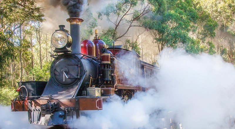 melbourne puffing billy steamtrain MMFW