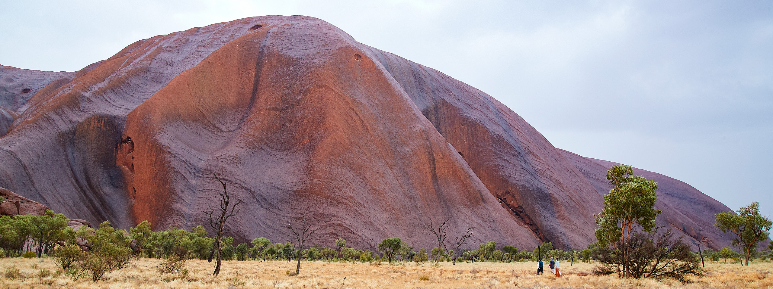 Walking along magnificent Uluru