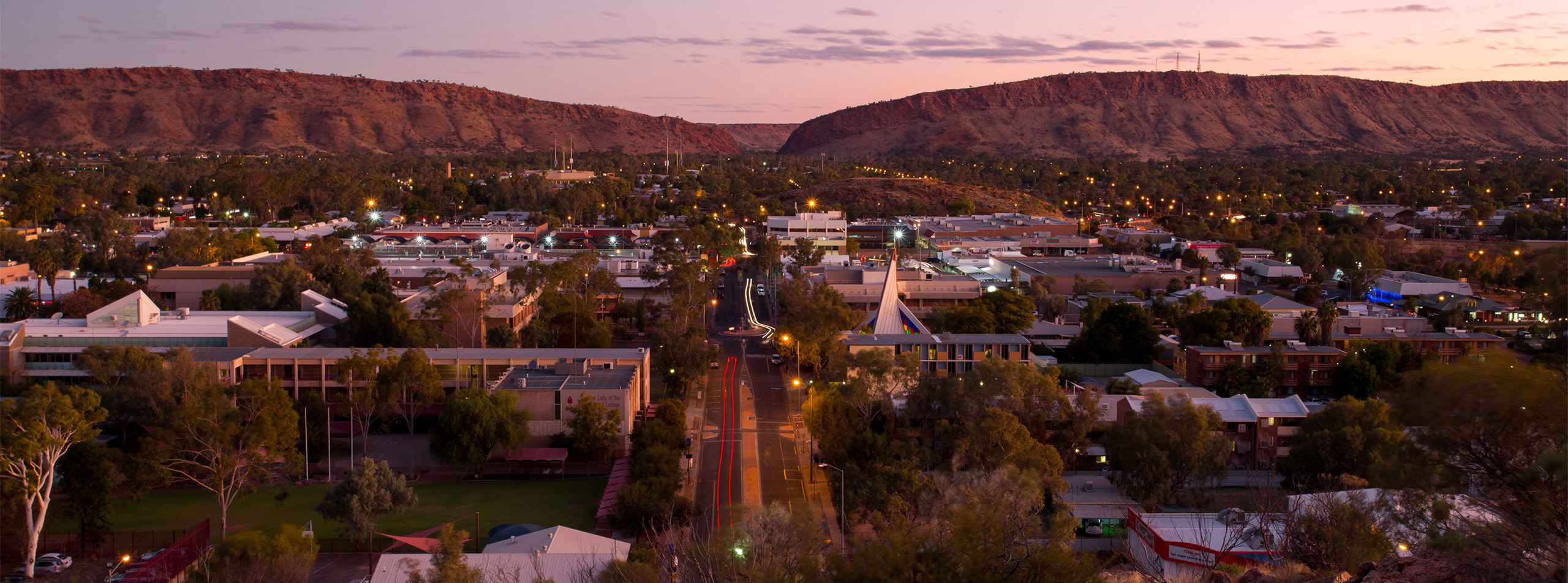 Alice Springs Town at Sunset