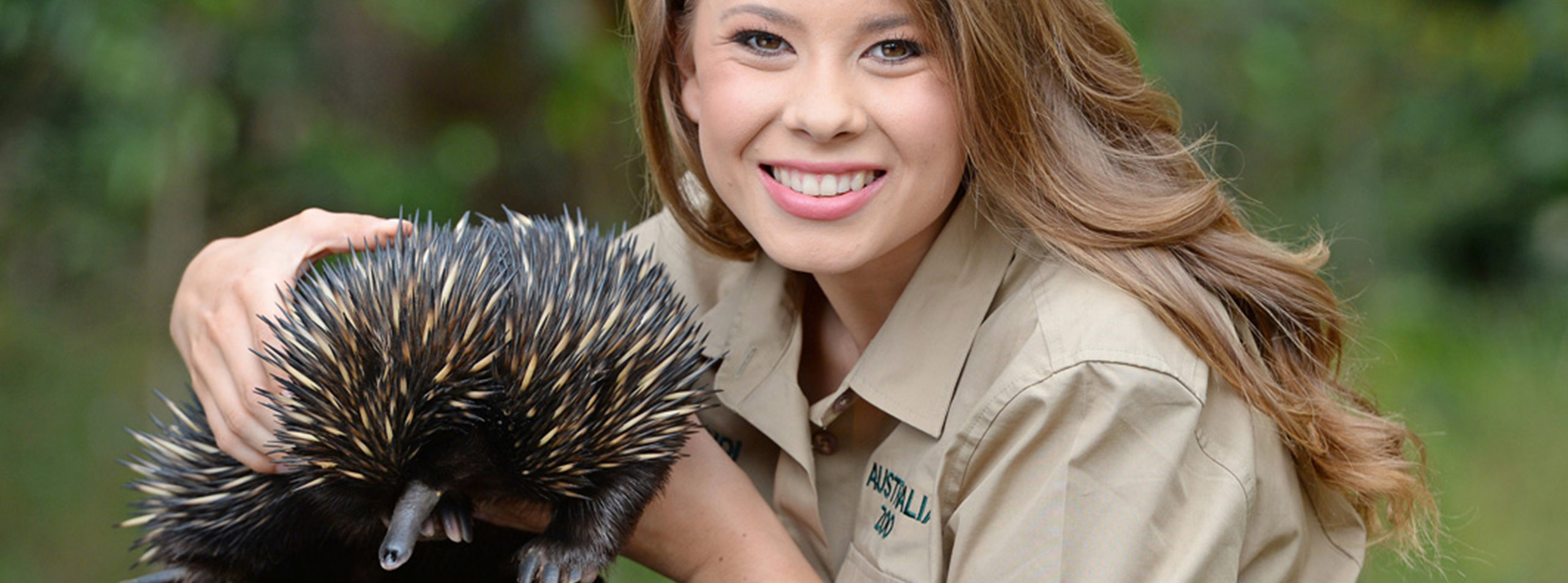 Bindi Irwin with Echidna, Australia Zoo