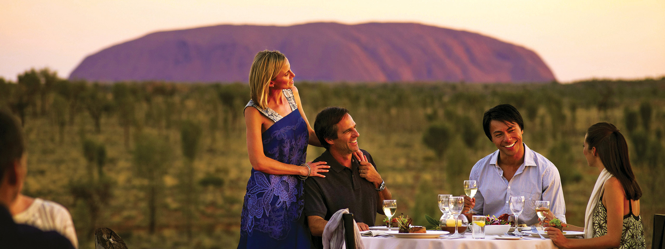 Sounds of Silence Dinner in front of Uluru