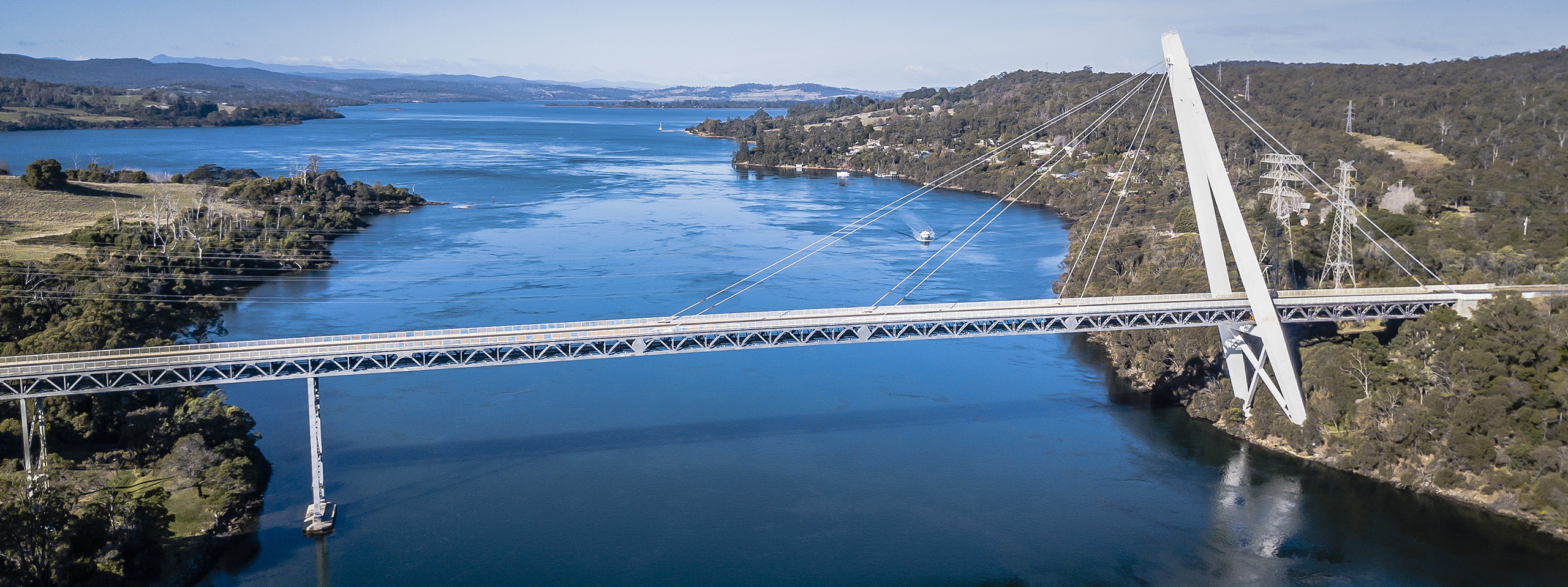 Batman Bridge & Tamar River, Launceston