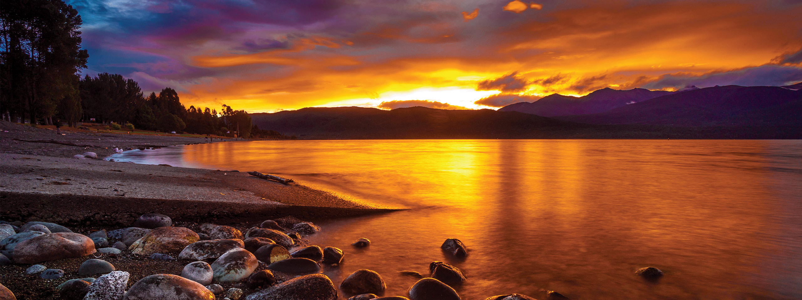 Lake Te Anau at sunset