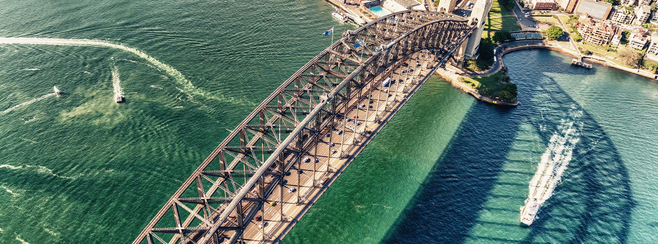Sydney Harbour Bridge, aerial view