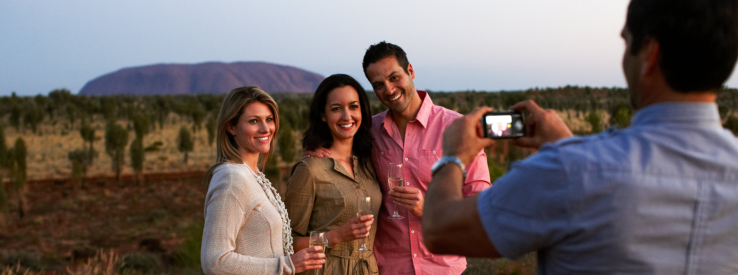 Uluru sunset with wine