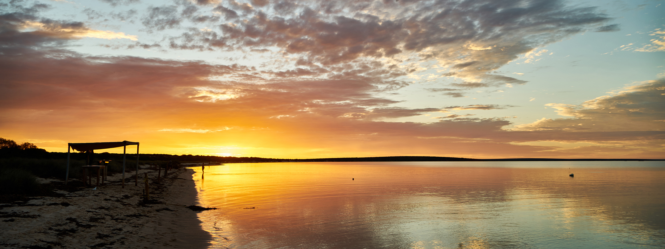 Shark Bay sunset, Monkey Mia
