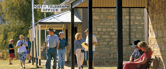 See the historic Telegraph Station at Alice Springs