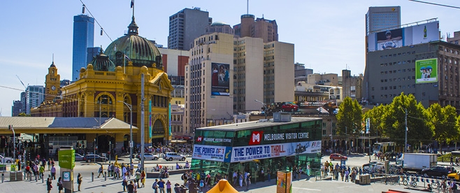 Flinders Station and Federation Square