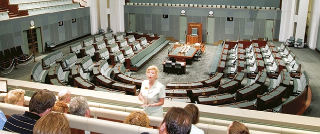 Inside Parliament House