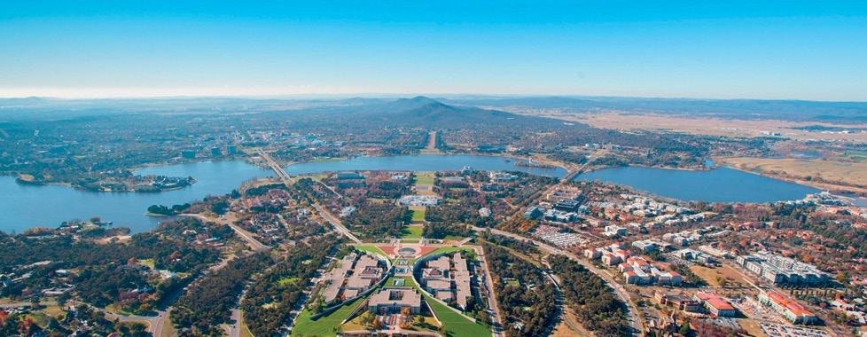 Aerial of Canberra