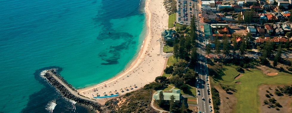 Aerial View of Cottesloe Beach