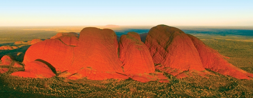 Aerial of  Kata Tjuta (The Olgas)