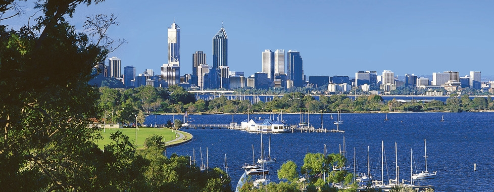 Swan River and Perth Skyline