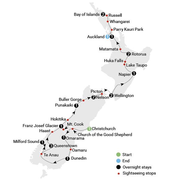 New Zealand Highway Map.Spirit Of New Zealand Aat Kings