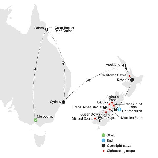 Contrasts of Australia New Zealand AAT Kings