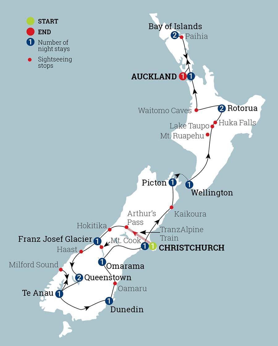 Map Of New Zealand Queenstown.New Zealand Magic Aat Kings