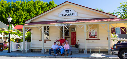 Guests and Travel Director at the Post & Telegraph shop in Arrowtown